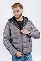 Куртка-пуховик мужской спортивный (Серый). АРТ-249KF001.5