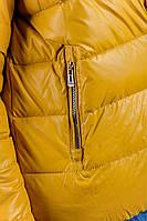 Куртка-пуховик мужской спортивный. (Горчичный). АРТ-249KF001.5