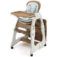 Детский стульчик для кормления  M 2429-13 PRISMA, коричневый
