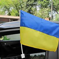 Флаг Украины на автомобиль 35х27см
