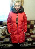 Куртка зимняя женская (44-50) с капюшоном, доставка по Украине