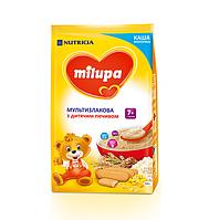 Milupa. Каша молочная Мультизлаковая с детским печеньем 7м+ 210г (с 7 мес) (931161)