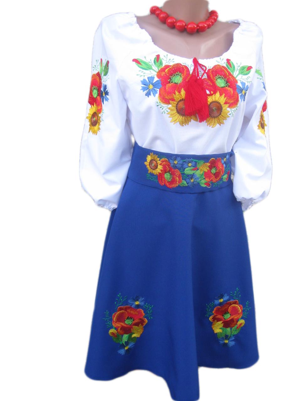 """Женское вышитое платье """"Невори"""" KD-0005"""