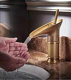 Смеситель кран для умывальника бронзовый однорычажный 0476, фото 4