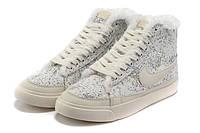 Зимние женские кроссовки Nike Blazer white