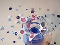 Корона с бусинами из фоамирана Серебро-розовый., фото 1