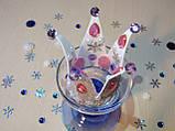 Корона с бусинами из фоамирана Серебро-розовый., фото 3
