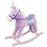 Rock My Baby. Музыкальная пони-качалка Сиреневый  (JR616)