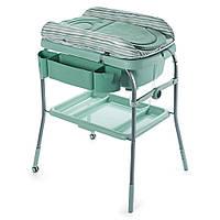 """Chicco. Пеленальный столик с ванночкой """"Cuddle & Bubble""""  (79348.49) Зеленый"""