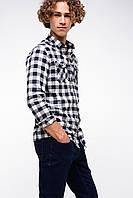 Белая мужская рубашка De Facto/Де Факто в черную полоску, фото 1