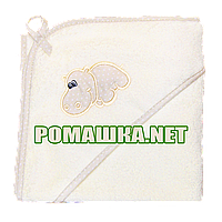 Детское махровое (очень длинная петля) уголок-полотенце после купания 95х95 см ТМ Ярослав 3073 Бежевый 2