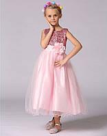 Платье нарядное  для девочки  пайетки, платье в пол, фото 1