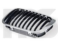 Решетка радиатора для BMW 3 E46 '98-01 правая, хром, черная