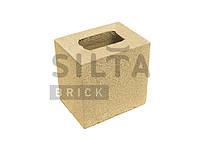 Заборный полублок гладкий 190×190x140 «Силта Брик» желтый элит