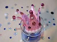 Корона с бусинами из фоамирана Розовая.