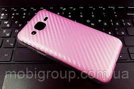 """Силиконовый чехол """"Карбон"""" для Samsung J2"""