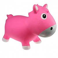 KidzzFarm. Прыгун Лошадка Гарри розово-белый (с насосом) / Horse Harry - Pink & White (KFPO130204)