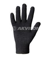 Перчатки рабочие трикотажные зимние, женские черные 1/3/300
