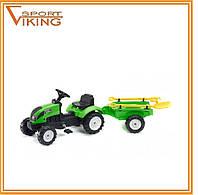 Детский педальный трактор с прицепом FALK