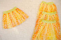 Яркая фатиновая юбка Желтые горошинки