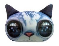 """Антистресова іграшка м`яконабивна """"SOFT TOYS 02 """"Кіт глазастий"""" сірий"""
