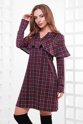 Стильное платье из принтованного французского трикотажа в комплекте пояс, фото 2