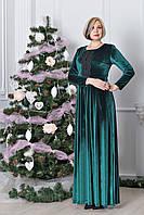 Роскошное длинное женское платье из бархата р.50-54 V319-03
