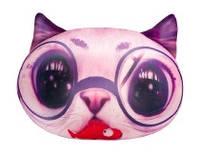 """Антистресова іграшка м`яконабивна """"SOFT TOYS 03 """"Кіт глазастий"""" рожевий"""