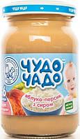 Чудо-Чадо. Пюре яблоко-персик с творогом, 175г., с 6 мес. (253360)