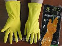 Перчатки латексные хозяйственные в ассортименте