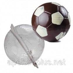 Поликарбонатная форма для шоколада Футбольный мяч 3D большой 15 см