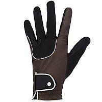 Перчатки для верховой езды Pro'Leather Fouganza, коричневые