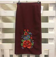 Вышитая юбка на запах - Мальва