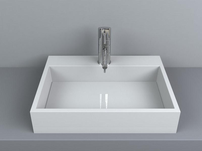 Раковина накладная для ванной Miraggio MARES 800 (белый глянцевый/ 80*43 см)