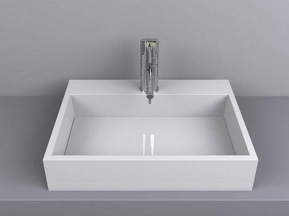 Раковина накладная для ванной Miraggio MARES 800 (белый глянцевый/ 80*43 см), фото 2