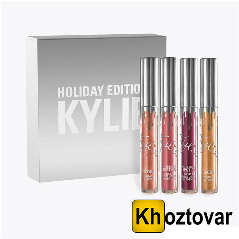 Набор матовой жидкой помады Кайли Kylie Holiday Edition 4 шт