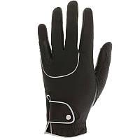 Перчатки для верховой езды Pro'Leather Fouganza, черные