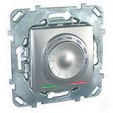 Терморегулятор для теплого пола алюминий Schneider Electric - Unica (Шнейдер Электрик Уника mgu3.503.30), фото 1