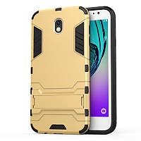 Чехол Iron для Samsung J3 2017 / J330F бронированный Бампер Броня Gold