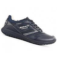 Синние кожаные кроссовки Bona. Размеры 36-41