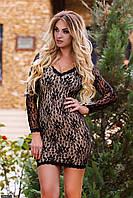 Платье 435247-3 черный Осень-Зима(мш)