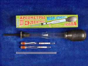 Набір автомобіліста №2 для вимірювання густини електроліту і визначення температури тосолу
