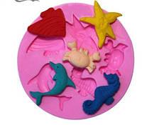 Форма морские обитатели, молд для конфет, декора торта, фото 1