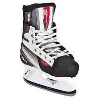 Коньки хоккейные Xlr3 Oxelo детские, бело-черные