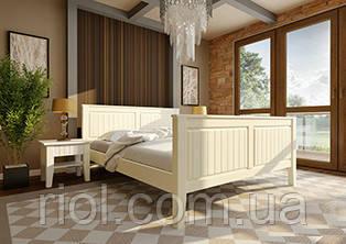 Кровать деревянная двуспальная Глория с высоким изножьем
