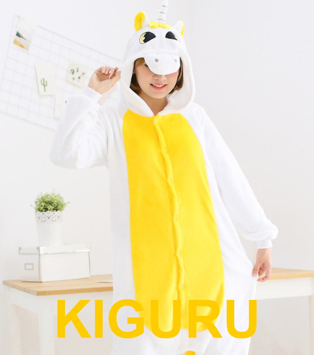 Пижама желтый единорог кигуруми