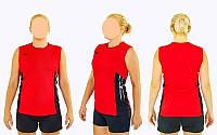 Форма волейбольная женская 6503W-R (полиэстер, р-р S-3XL, красный)