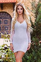 Платье 435247-2 молочный  Осень-Зима(мш)