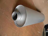Глушитель МАЗ-ЕВРО (нижний выхлоп) овальный под кольцо (без кольца)
