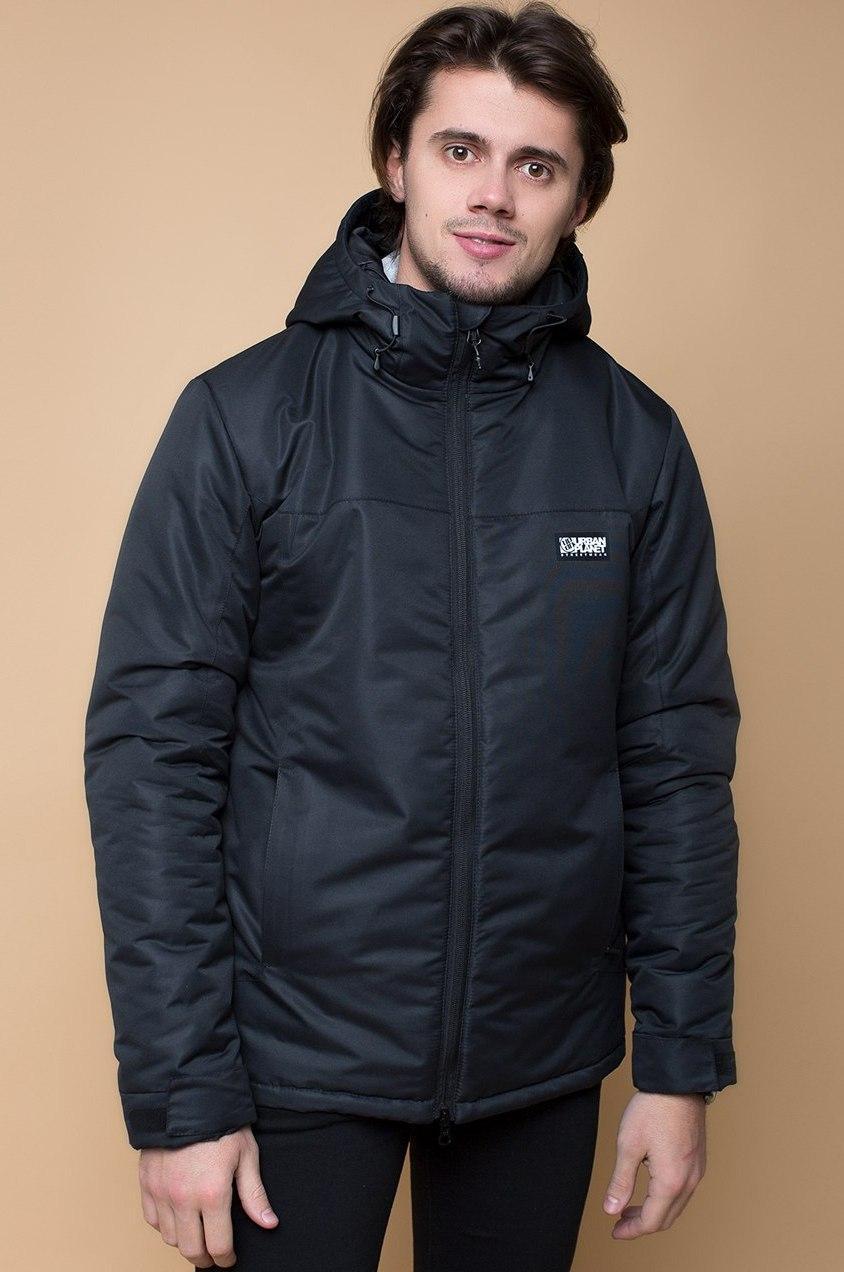 d802721d161 Мужская черная зимняя куртка Urban Planet А4 BLK - интернет-магазин